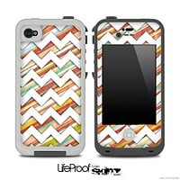 Color Stripes and White Chevron Pattern for the iPhone 5 or 4/4s LifeProof Case