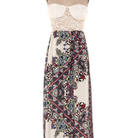 Empire Lace Bustier Maxi Dress | Bloody-Fabulous
