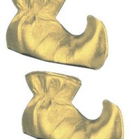 New Adult Santa`s Helper Elf Costume Gold Shoe Boots $9.55