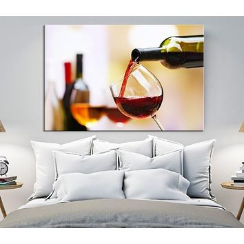 39331 - Filling Red Wine into Glass - Red Wine Canvas Print