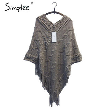 Spring  batwing sleeve  poncho