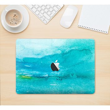 """The Grungy Blue Watercolor Surface Skin Kit for the 12"""" Apple MacBook"""