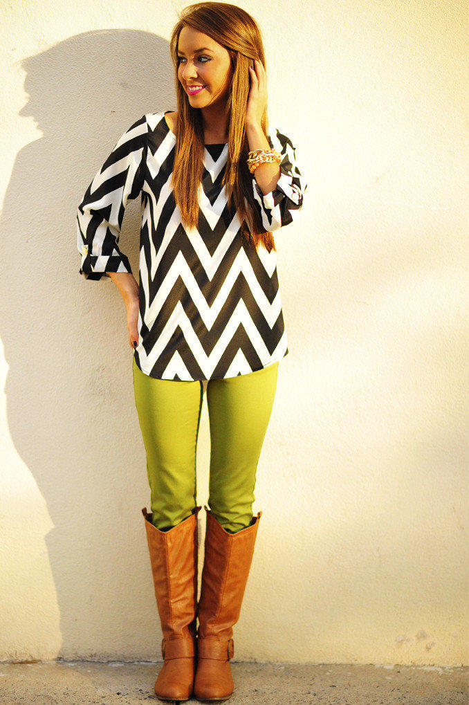 EVERLY: Joy For Chevron Top | Hope's