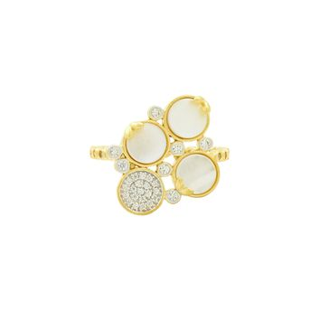 Fleur Bloom EMPIRE Mother of Pearl Cluster Ring
