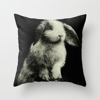Bunny Throw Pillow by Digital Dreams