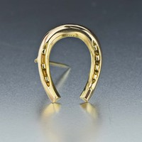 Vintage 1890s Gold Horseshoe Brooch