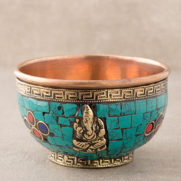 Ganesh Copper Offering Bowl