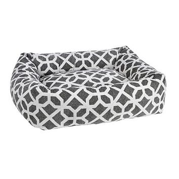 Chenille Dutchie Bolster Dog Bed — Palazzo