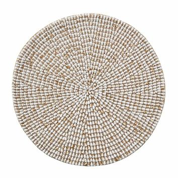 Jackson Placemat In White & Gold - Set Of 4
