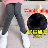 2016 Elegant Children Warm Thick Kids Girl Long Johns Wool Home Clothing Eyes Patterned Winter Cotton Tights Leggings Baby Girl