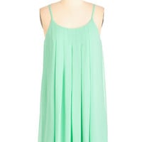 Pastel Short Length Spaghetti Straps Shift Getaway Goddess Dress