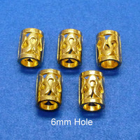 8x(6mm hole) gold DREADLOCK RING DREAD,Hair Beads,Dreadlock Accessories,dreadlock bead sets,Dreadlock Jewelry,Hair Accessories,