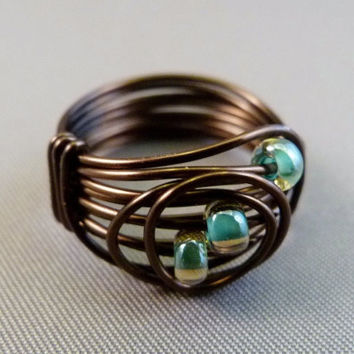 Smokey Quartz Wire Wrapped Ring - Signature Design