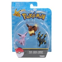 Tomy Pokemon Eevee Evolutions Eevee Espeon Umbreon Action Figure 3 Pack