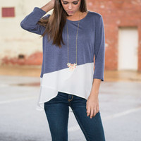 Angle of Mine Top, Blue
