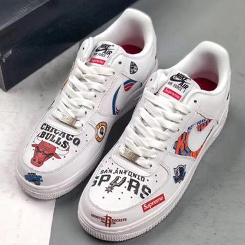 Trendsetter Supreme x NBA x Nike Air Force 1  Women Men Fashion Casual Skateboard Shoes