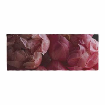 """Cristina Mitchell """"Coral Peonies"""" Coral Pink Photography Bed Runner"""