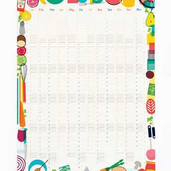 2015 Wall Planner Kitchen Calendar Organiser Chefs Measurements Reverse