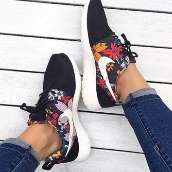 """NIKE"" Floral Print Women Men Casual Flower Running Sport Shoes Sneakers Flowers print"