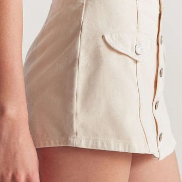 BDG Winona Button-Front Skort | Urban Outfitters