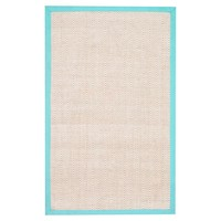 Shoreline Jute Chenille Border Rug, Pool
