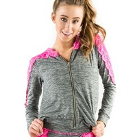 California Kisses JUNIOR LACE HOODIE - Dancewear Junior Sizes