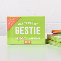 Why You're My Bestie Fill In The Blanks Keepsake Book
