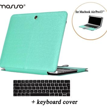 MOSISO PU Cover Case for Macbook Air 13 PU Leather Book Foilo Case Protect Laptop Sleeve for Mac Book Pro 13 Retina A1425/A1502
