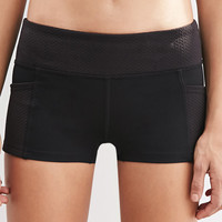 Texture-Paneled Performance Shorts