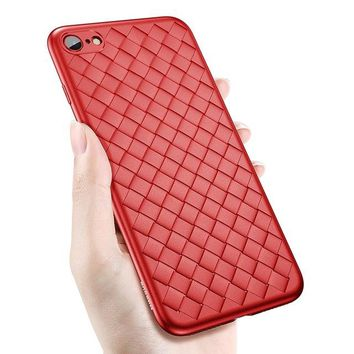 Creative Grid Silicone iPhone Case