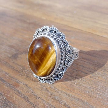 gemstone ltd womens product bling gems item rings stones tiger co eye jewelry