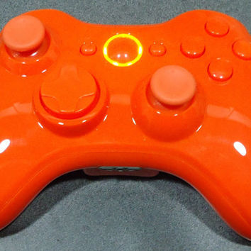 Custom New Xbox 360 Wireless Controller - Glossy Orange