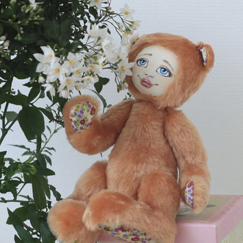 Artist Bear Teddy Doll - handmade, collectors toy, ooak, stuffed toy, unique