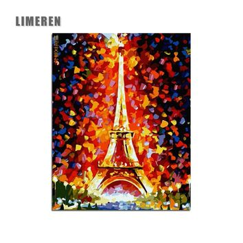 Paris Tower light DIY Digital oil Painting By Numbers Modern Wall Art Canvas Painting Unique Gift For Art Wall Home Decor