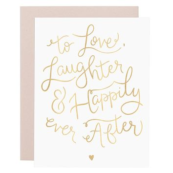 Happily Ever After gold foil card