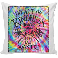 Trippy quote pillow