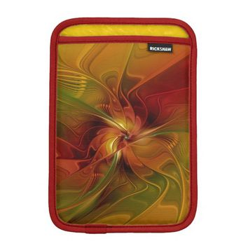 Warmth, Abstract Fractal Art iPad Mini Sleeve