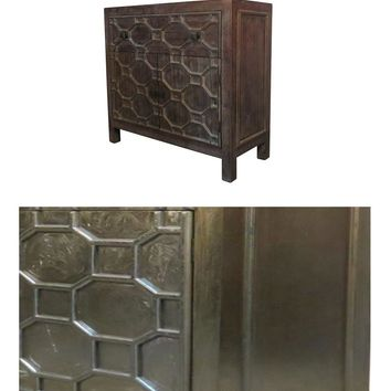Silvestro Small Cabinet 1 Drawer + 2 Doors, Antique Champagne