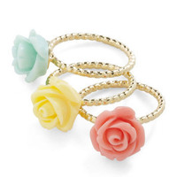 Flower in Numbers Ring Set | Mod Retro Vintage Rings | ModCloth.com