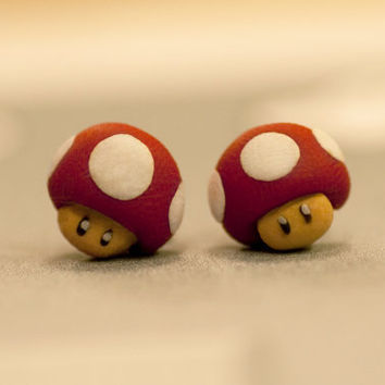Nintendo Mario Mushroom Earrings