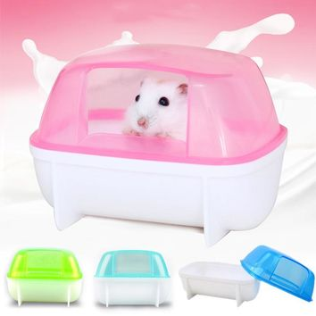 Small Animal Hamster Sauna Sand Bath Room Bathroom Potty Toilet Plastic