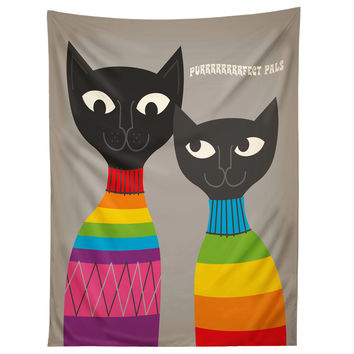 Anderson Design Group Rainbow Cats Tapestry