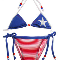 Americana bikini - Children's Swim Boutique, Boutique Swimwear, Couture Kids Bathing Suits, Childrens Swimwear