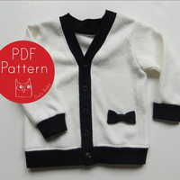 Darling Cardigan PDF Sewing Pattern and Tutorial (sizes NB, 3m, 6m, 12m, 18m, 2t, 3t, Boys/Girls 4, 5, 6) Instant Download