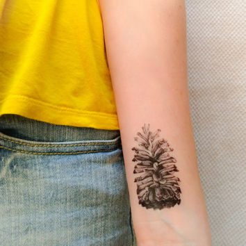 2 Pinecone Temporary Tattoos- SmashTat