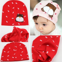 Baby Cartoon Dog Knit Beanie Candy Color Warm Cap = 1958469700
