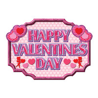 Beistle 77080 Happy Valentine's Day Sign