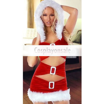 Sexy Red Christmas Hooded Dress [TSY111116021] - $19.81 : Cosplay, Cosplay Costumes, Lolita Dress, Sweet Lolita