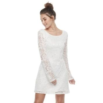 Juniors' Liberty Love Lace A Line Dress | Null