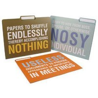 ThinkGeek :: File Folders with Attitude